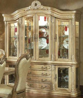 desain lemari hias ukir mewah dari kayu
