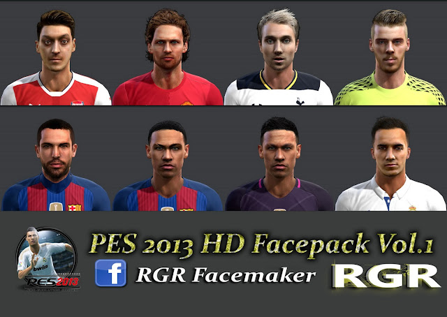 PES 2013 HD Facepack Vol.1 Rgr DS