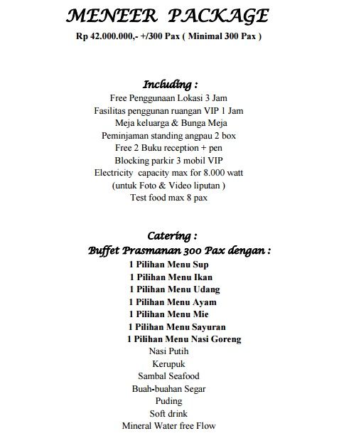 Semua ceritaku dan ceritamu my wedding preparation diary part 3 price list if you have a concept for garden party i think you can choose bandar jakarta from your wedding venue list lol junglespirit Gallery