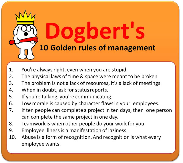 Dogbertu0027s 10 Golden Rules Of Management Dogbert Pinterest - lying on resume