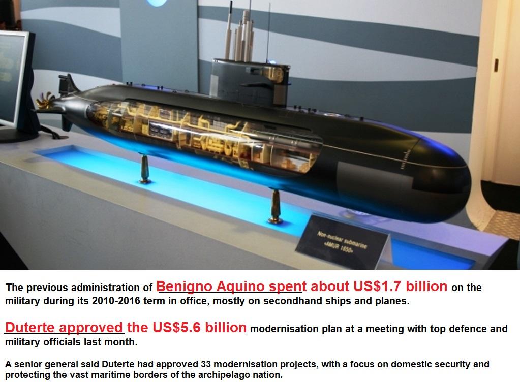 Philippines' President Duterte approves US$5.6 billion military upgrade