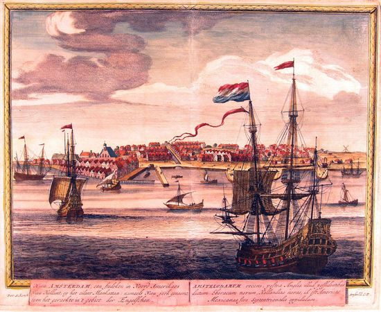 A View of New Amsterdam in 1673