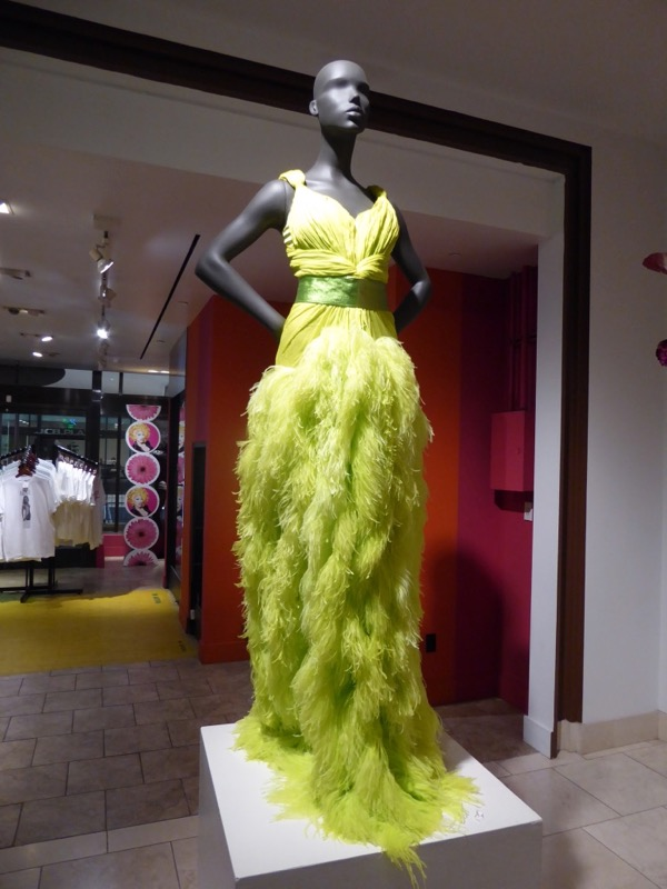 RuPauls Drag Race green feathered gown