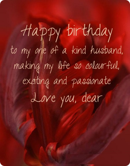 Happy Birthday Wishes Husband