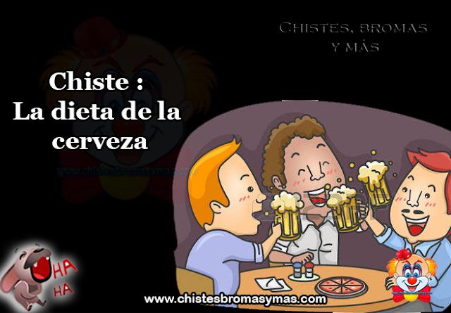 Chiste : La dieta de la cerveza, una cerveza ligera tiene entre 70 y 100 calorías, es principalmente agua, y la parte que no es agua es principalmente carbohidratos.