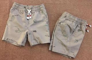 Quần Shorts Lưng chun Kaki In Khủng Long bé trai. Cat & Jack. Size 4-16T. VN xuất xịn. 1 MÀU.