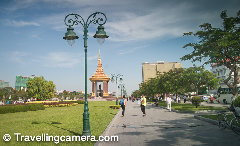 This place is pretty close to some of the other touristy places in the city. River-side of Mekong is close by where lot of folks come during evening to enjoy exceptional environment here. The Independence Monument stands 37 meters tall. Above photograph shows Norodom Sihanouk Memorial, constructed in 2013 and close to the Independence Monument.    Related Post - Cambodia - A country that runs on Bikes !