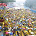 There are now about 50,000 participants attending Bersih 4 although is raining