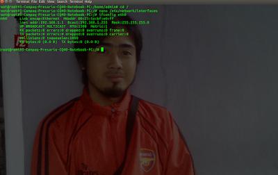menampilkan konfigurasi IP