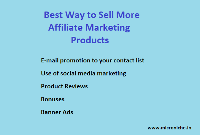 Best Ways to Sell More Affiliate Marketing Products