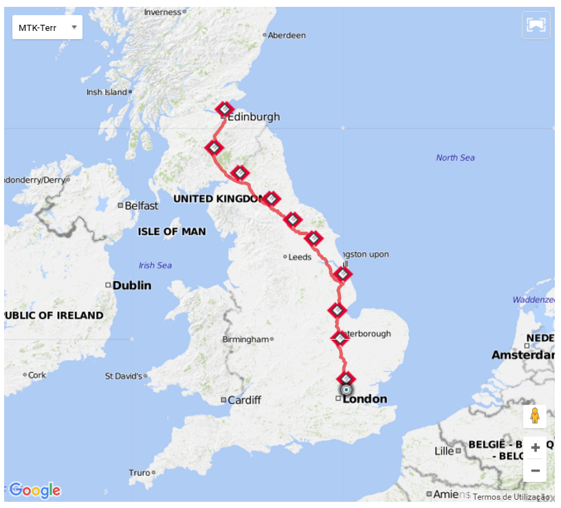 Barring Mechanicals - From London to Edinburgh and back, on a recumbent bicycle