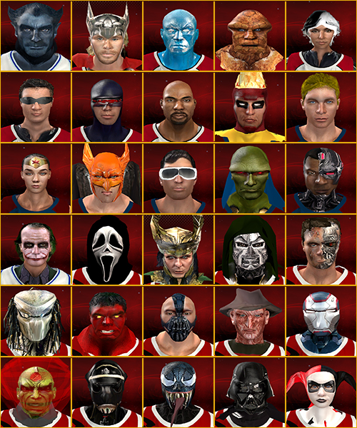 NBA 2K13 Superheroes and Villains Players Mod
