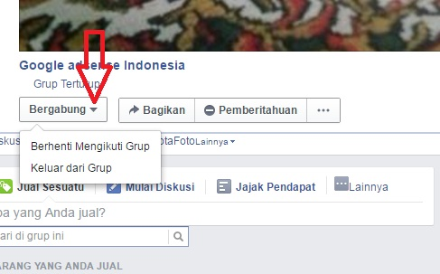Cara Keluar dari group Facebook