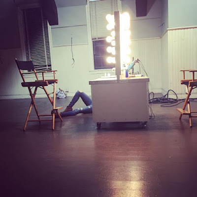 "PLL bts Troian Bellisario sleeping during night shoot for 7x10 ""The DArkest Knight"""