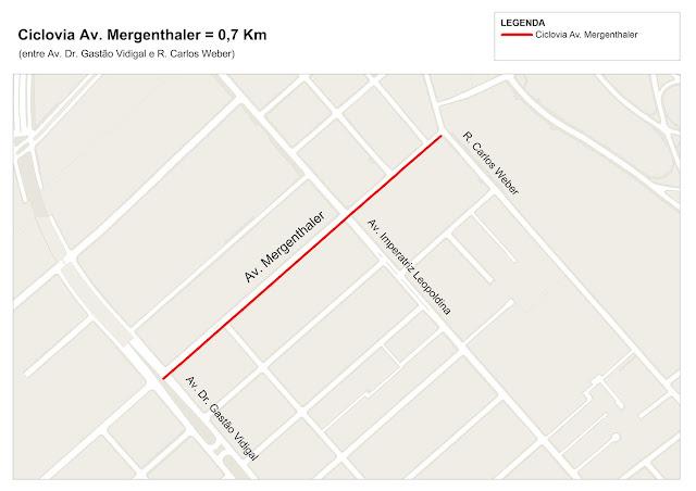 Ciclovia da Avenida Mergenthaler