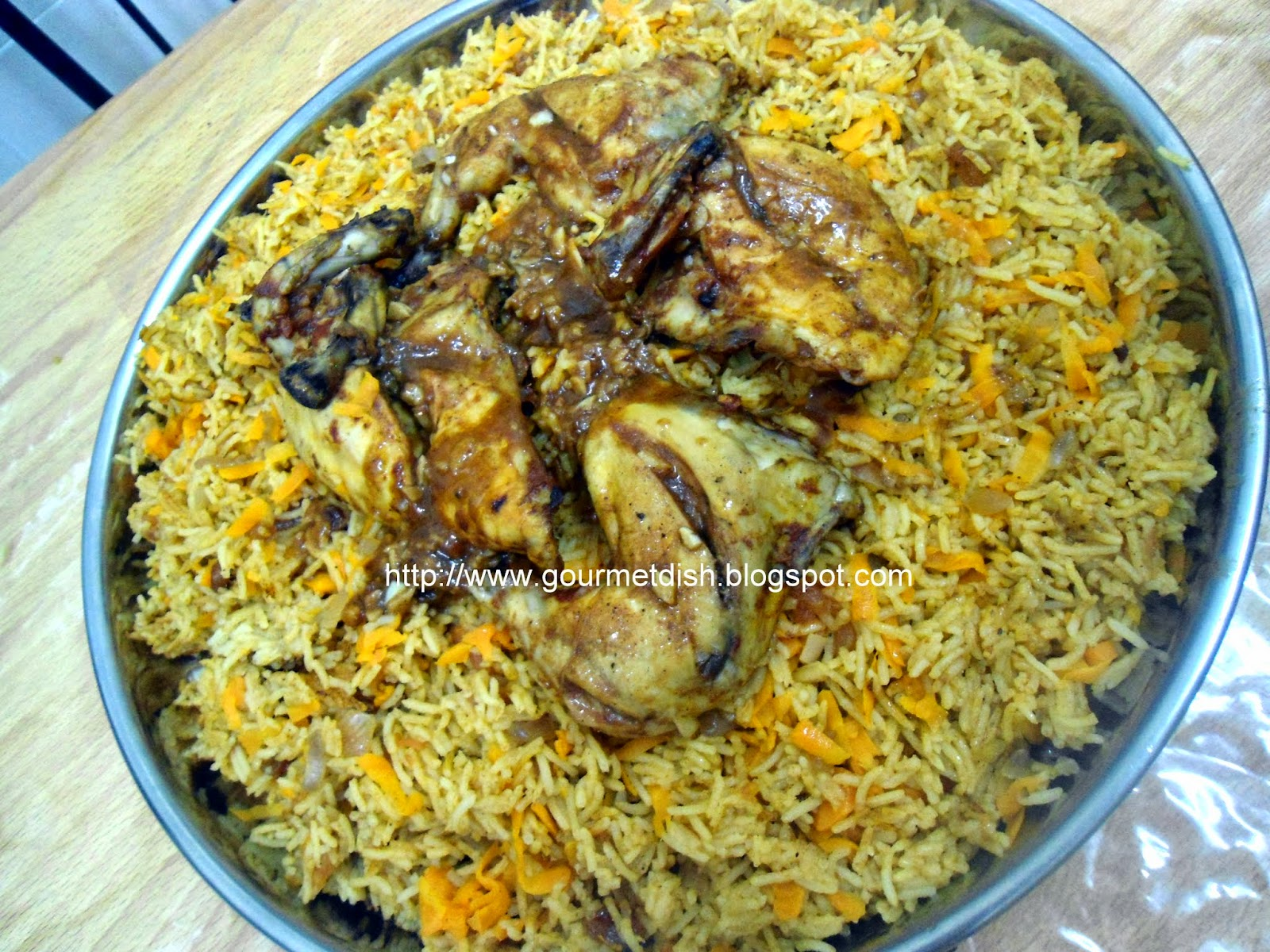 Al Kabsa Dajaj- Traditional Saudi Rice and Chicken Recipe ...