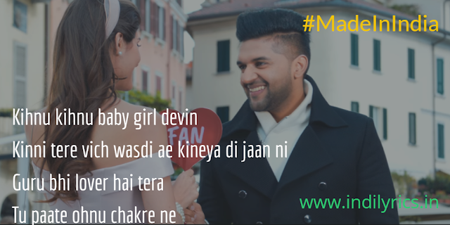 Made In India Lagdi Ae | Guru Randhawa ft. Elnaaz Norouzi complete audio song lyrics with English Translation and Meaning