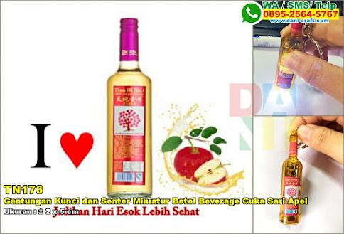 Gantungan Kunci Dan Senter Miniatur Botol Beverage Cuka Sari Apel