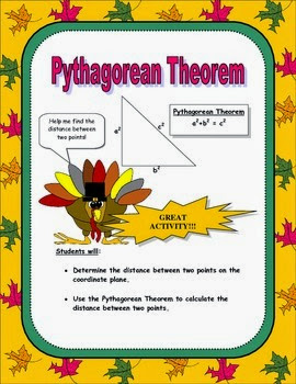 Pythagorean Theorem Thanksgiving Activity