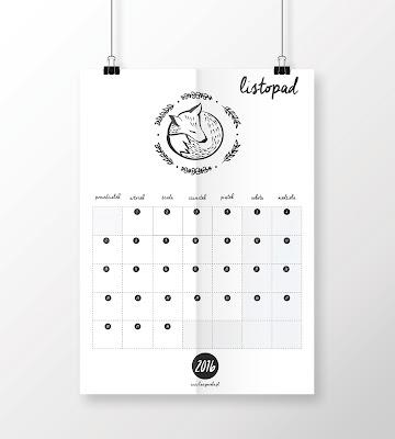kalendarz listopad