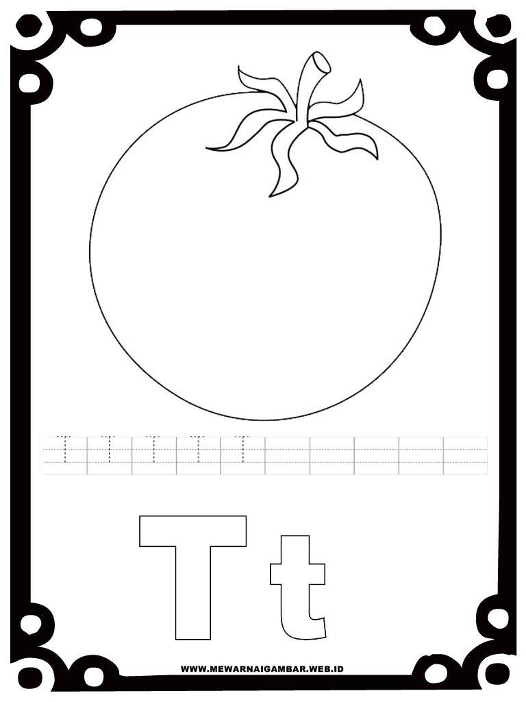 Mewarnai Gambar Tomat