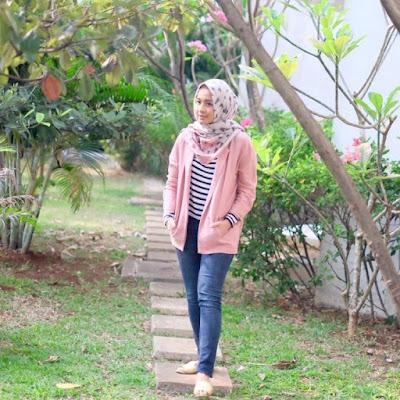 tampil cantik hijab fashion  Ala Laudya Cintya Bella