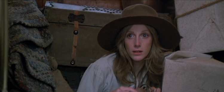 Sondra Locke plays Laura Lee in The Outlaw Josey Wales.