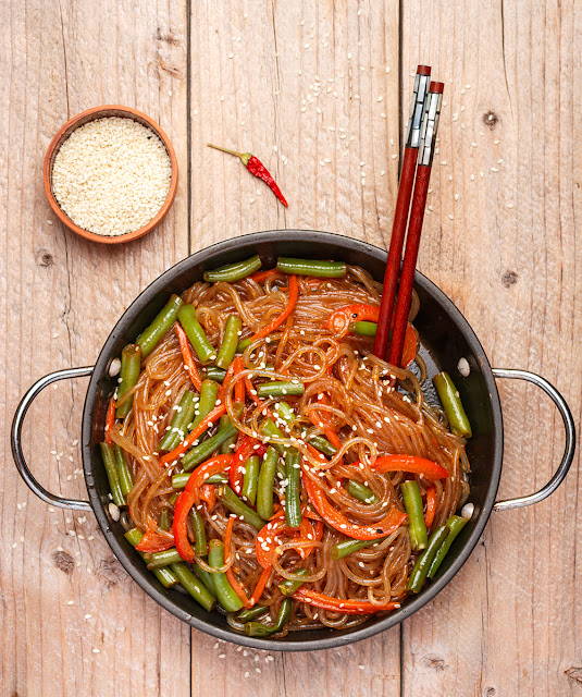 Noodles chinezesti cu legume