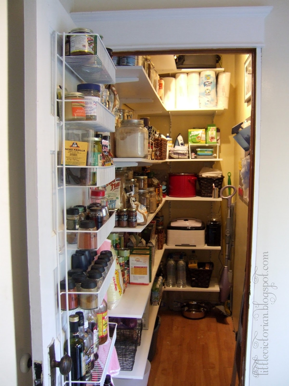 Small Closet Turned Pantry