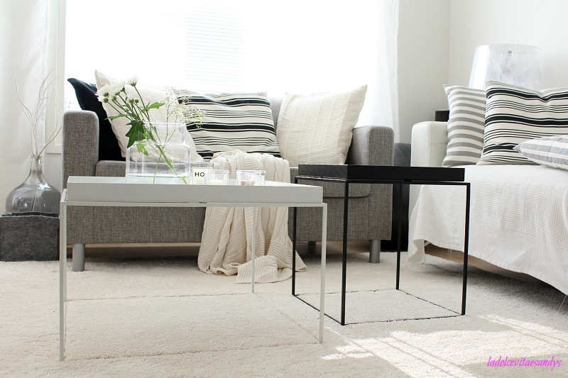 scandinavian monochrome living room