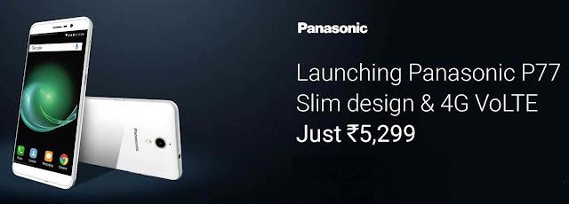 Panasonic P77 | 4G VoLTE | Slim Design