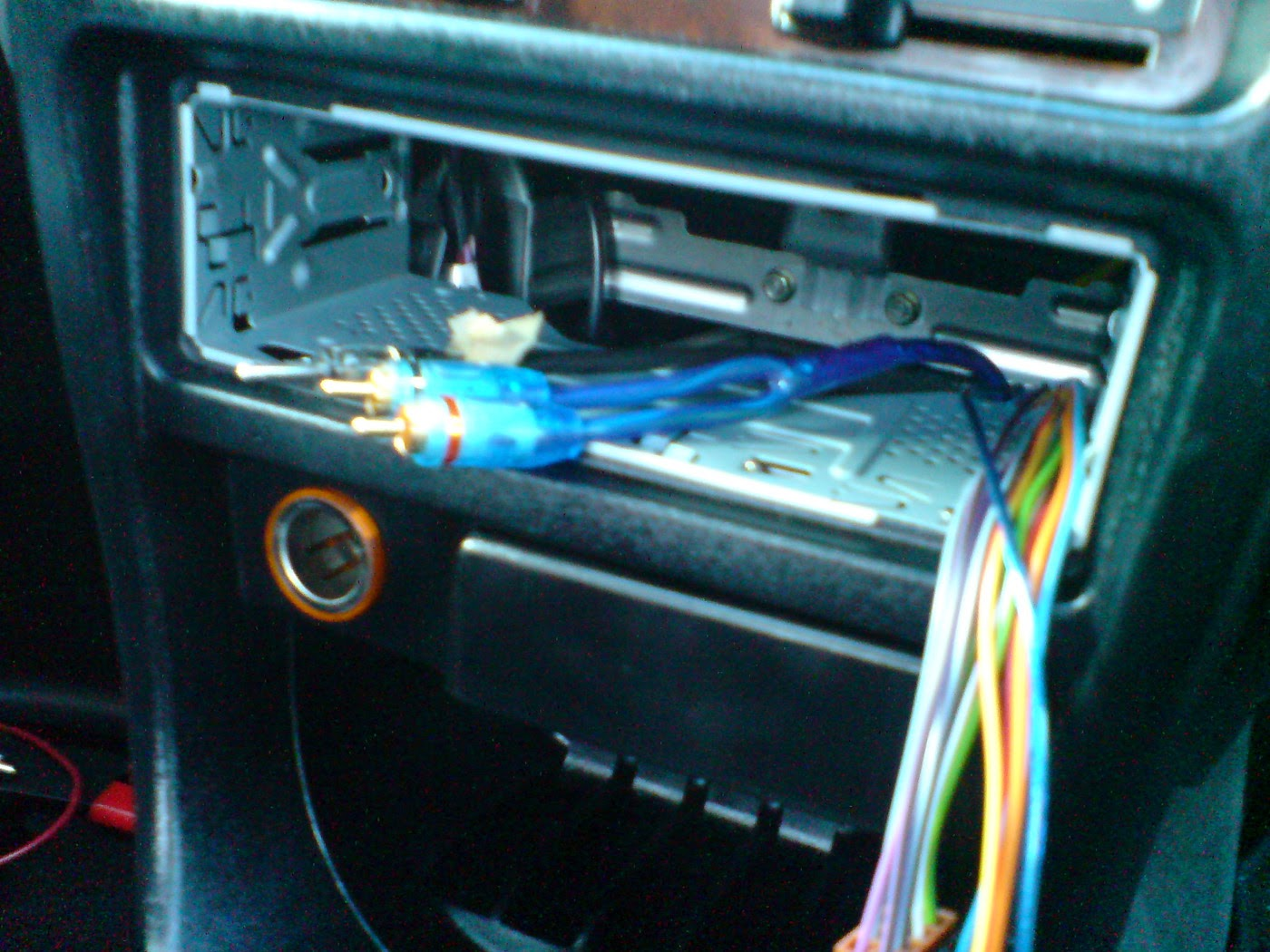 Rover 25 Head unit removed