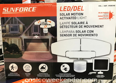 Add a layer of security to your home with the Sunforce Solar Motion Activated Light