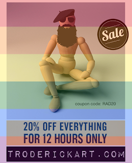 20% off everything coupon code RAD20 at troderickart.com