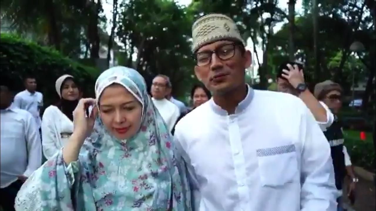 Hari Coblosan, Ini Pesan Sandi Sepulang dari Masjid