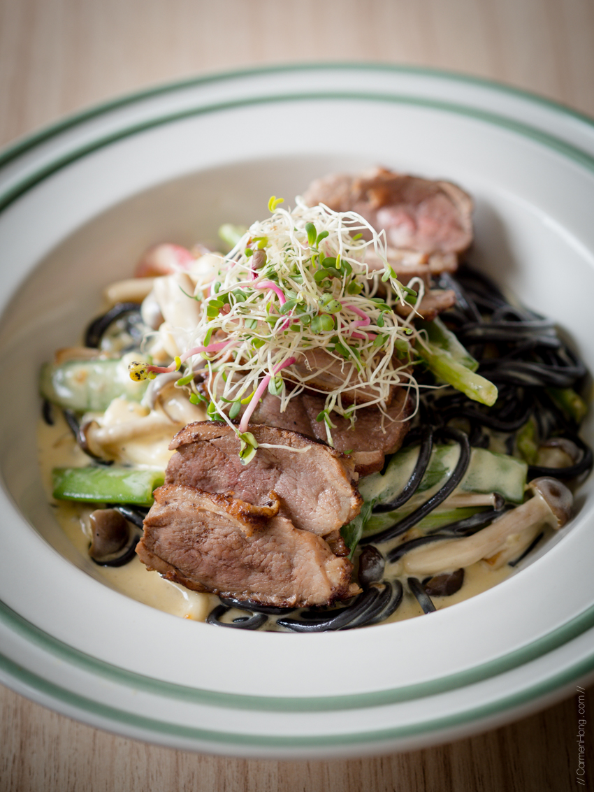 Seared Duck with Squid Ink Pasta | RM 49.00