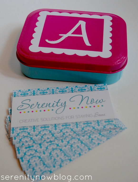 DIY Business Card or Calling Card Tin, from Serenity Now