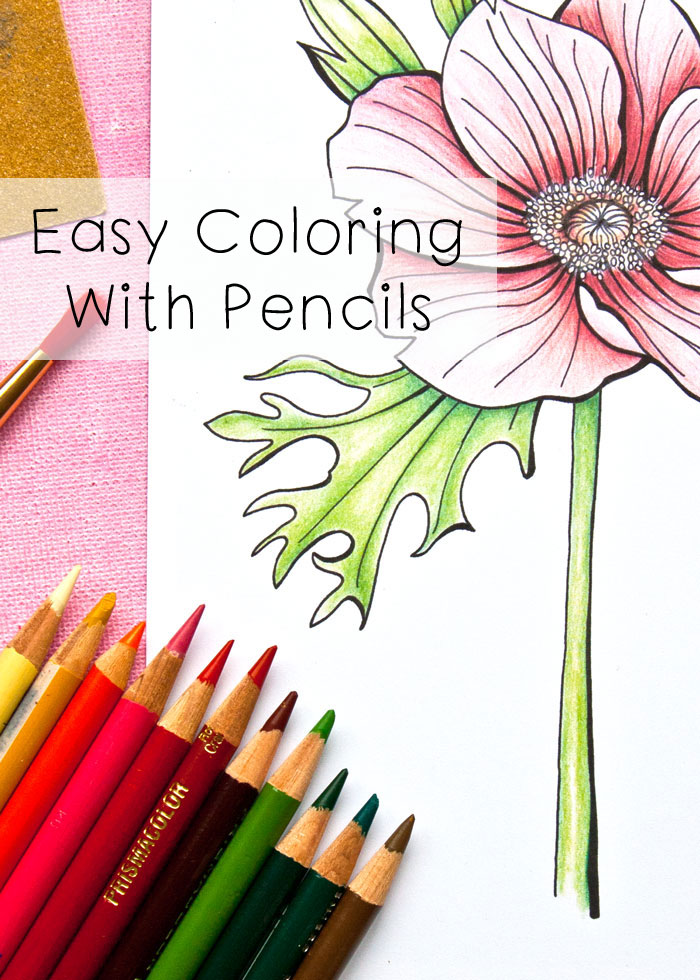 Easy Coloring with pencils with a video by Kim Dellow
