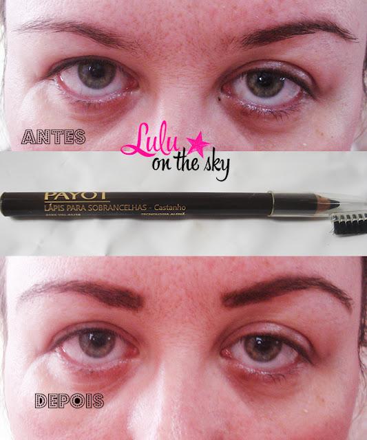 Lápis para sobrancelhas com escovinha castanho Payot - blog Lulu on the sky