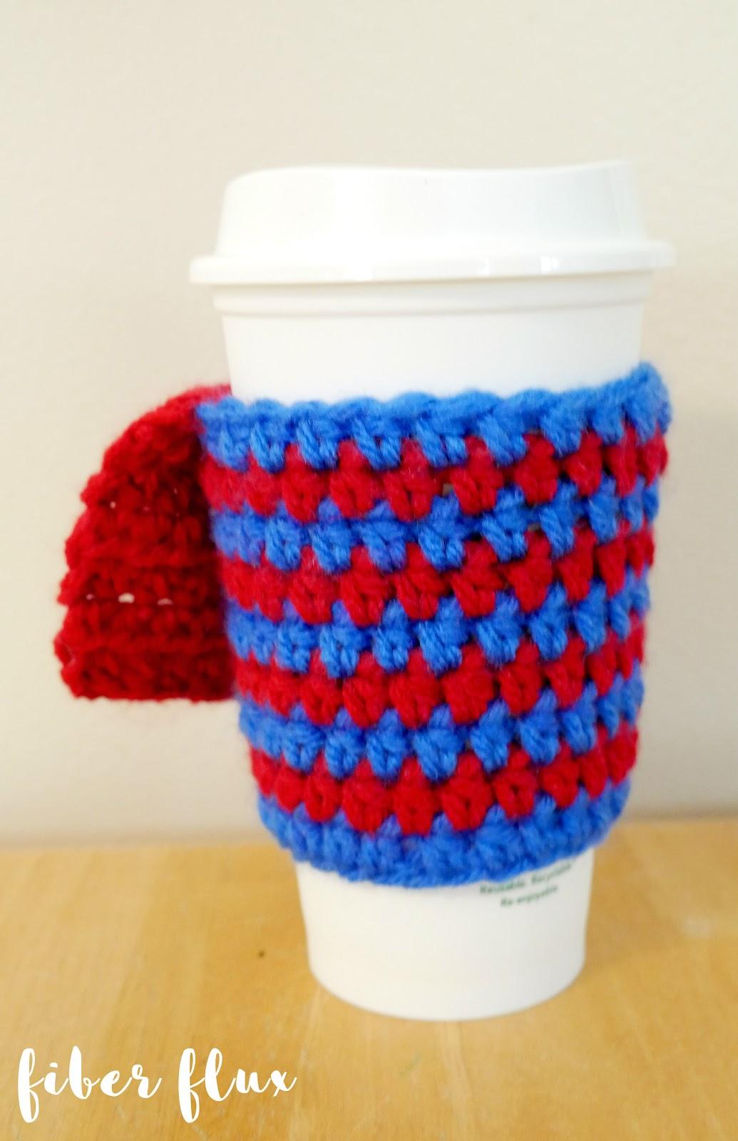 Fiber Flux Free Crochet Pattern Supermomsuperdad Coffee Cozy