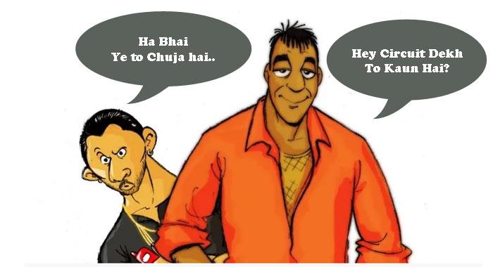 मुन्नाभाई और सर्किट जोक्स Munna Bhai Hindi Jokes