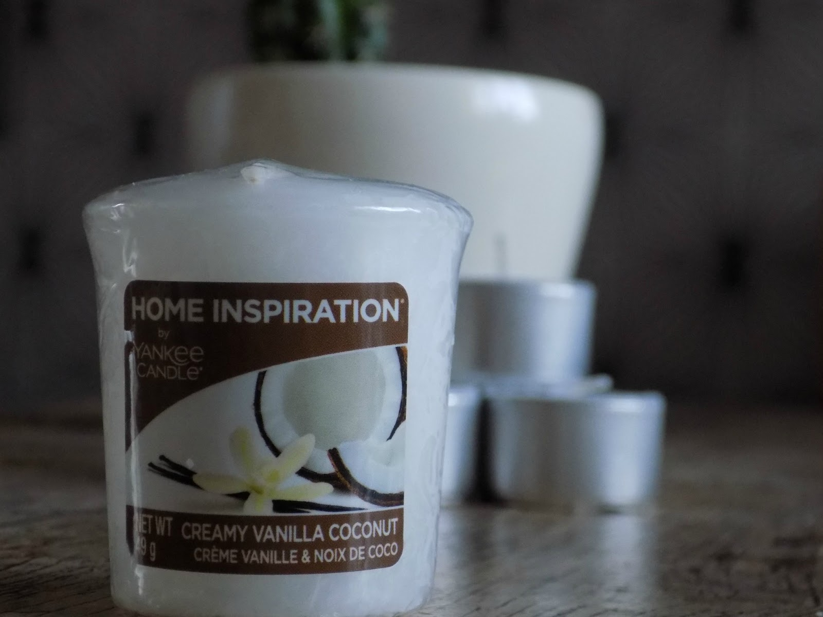 Yankee candle home inspirations creamy vanilla and coconut