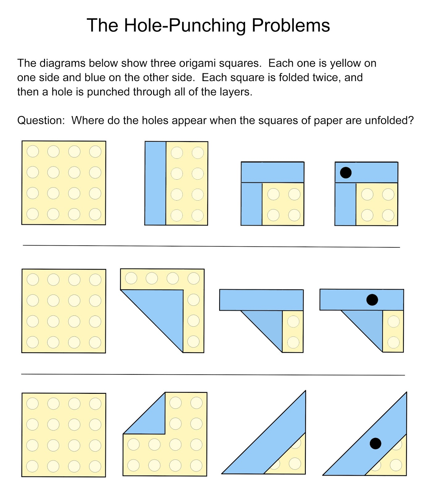 Math Problems Hole Punching Problems