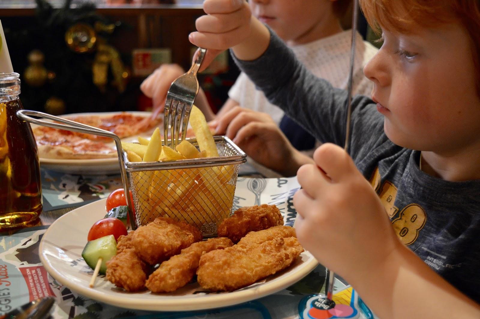 Bella Italia at intu Eldon Square Newcastle | Children's Menu Review - kids fish and chips