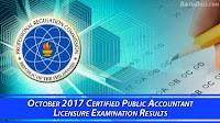 Certified Public Accountant October 2017 Board Exam
