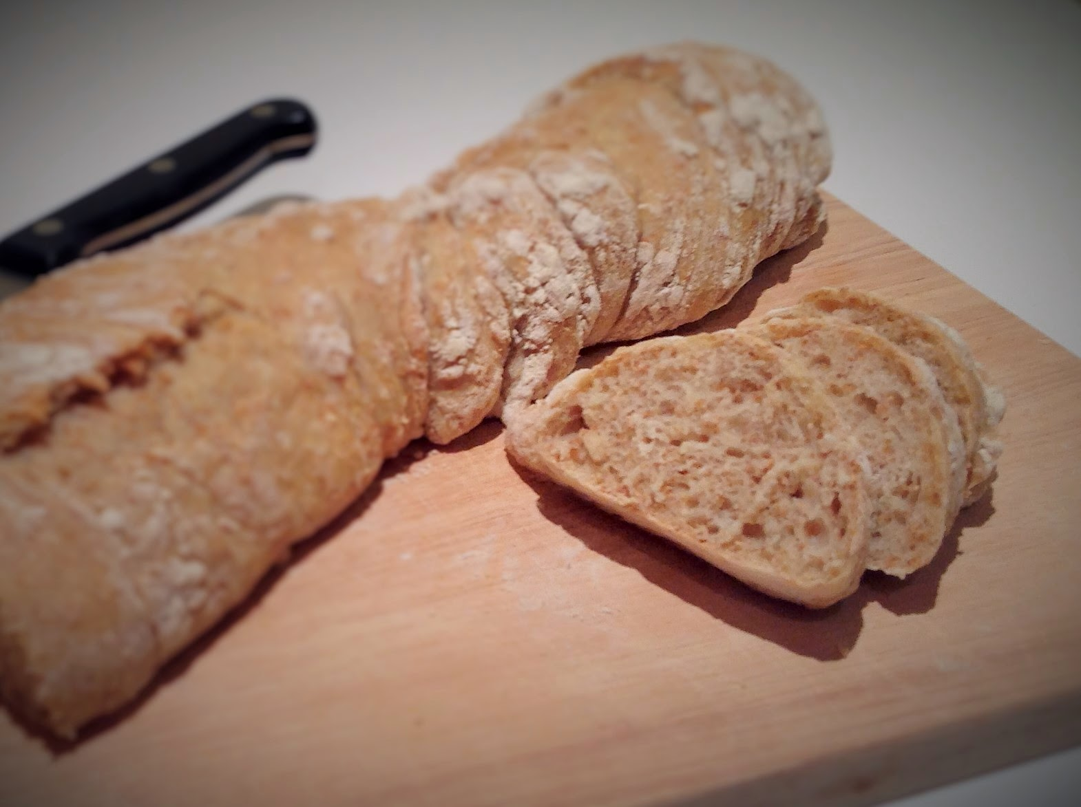 "Spelt no-knead ""twisted"" bread"