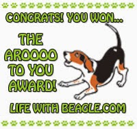 AROOO award from lifewithbeagle.com