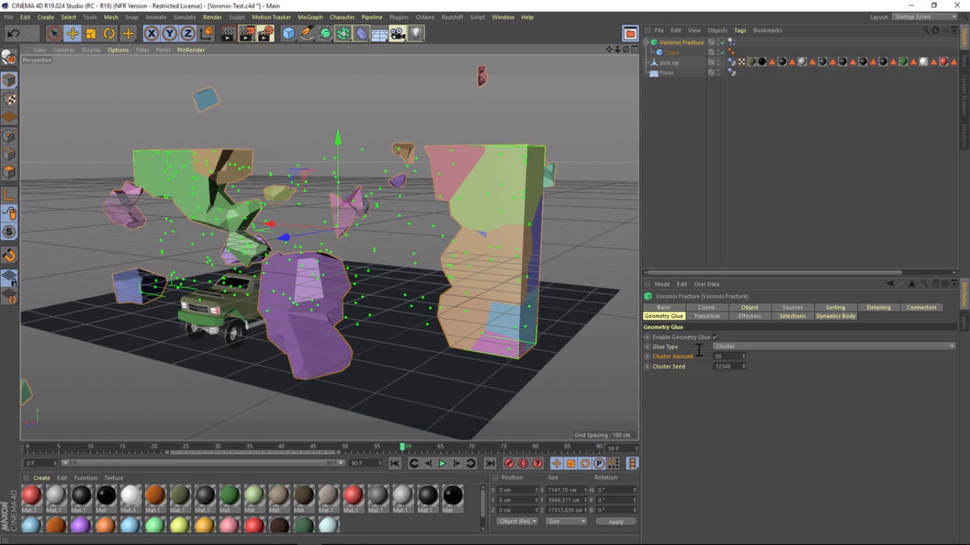 Fracture Tips For Cinema 4D R19 Voronoi | CG TUTORIAL