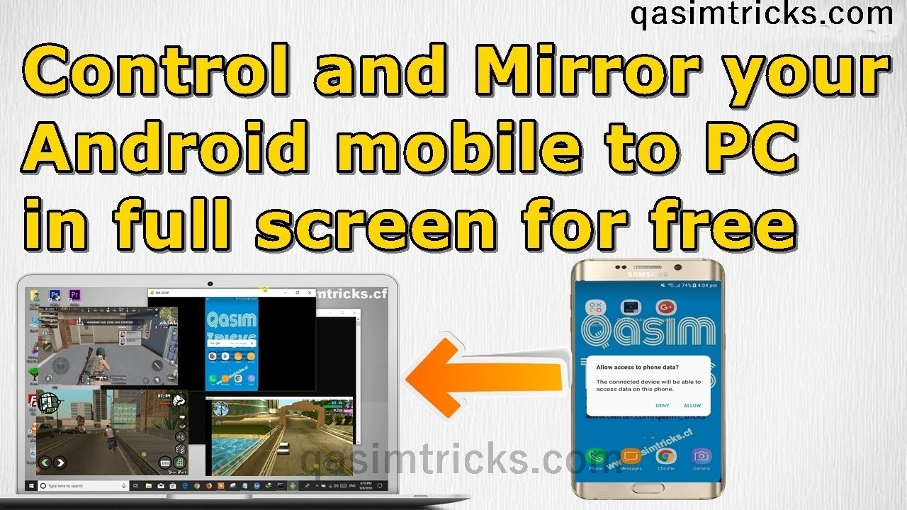 How to mirror Android mobile screen to PC in full screen for