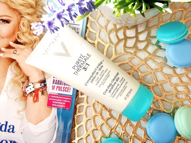 Vichy mleczko do demakijażu, Vichy mleczko 3w1, Vichy one step cleanser, vichy sensitive skin
